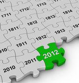 Years jigsaw puzzle — Stock Photo