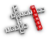 Winnaar en verliezer — Stockfoto