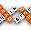 Brainstorm and teamwork — Stockfoto