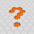 Jigsaw puzzle question mark — Stock Photo