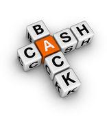 Cash back icon — Stock Photo
