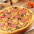Pizza on the table - Stock Photo