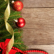 Christmas decoration border — Stockfoto #10549870