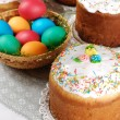 Easter eggs in basket — Stock Photo #8402677
