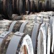 Oak wine barrels - Stock Photo