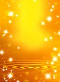 Altın ve bulanık dalga bir arka plan üzerinde yıldız — Stok fotoğraf