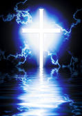 Glowing cross — Stock Photo