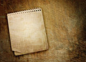Old used notebook — Stock Photo