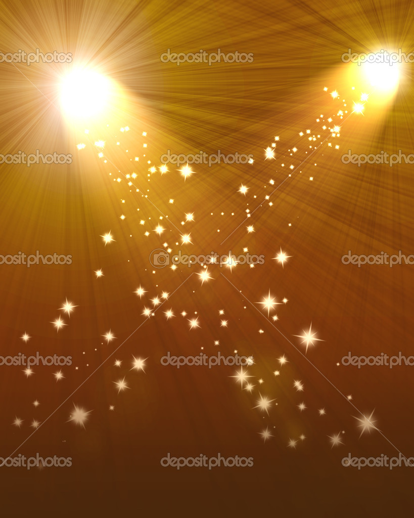 Two spotlights abstract Lighting Equipment  Stock Photo #8077527