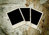 Three empty grunge frame — Stock Photo