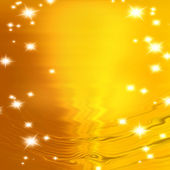Stars on a background of gold and blurry wave — Stock Photo