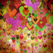 Royalty-Free Stock Photo: Grunge love pattern background
