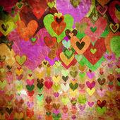 Grunge love pattern background — Stock Photo