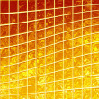 Banner of the iridescent golden squares — Stock Photo