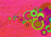 Ilustracja koła na ścianie — Zdjęcie stockowe