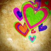 Grunge love pattern background — Stockfoto
