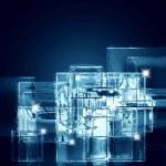 Background of ice squares — Stock Photo