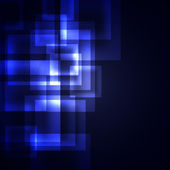 Blue squares on a dark background — Stock Photo
