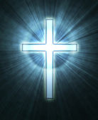 Glowing cross — Stockfoto