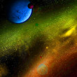 Stock Photo: Different planets in outer space