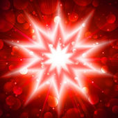 Red star flash — Stock Photo