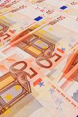 5, 10, 20, billetes falsos de 50 euros — Foto de Stock
