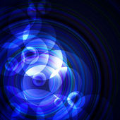 Blue circles on a dark background — 图库照片