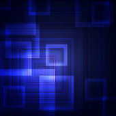 Blue squares on a dark background — 图库照片