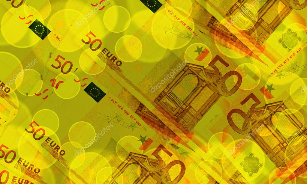 Euro banknotes abstract blue background with the effect of Boke — Stock Photo #8702674