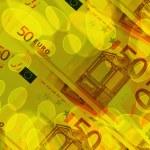 Euro banknotes abstract background Euro banknotes — Stock Photo