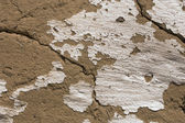 Old cracked clay wall — Stock Photo