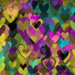 Stock Photo: Grunge love pattern background