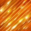 Glittering stars blurred yellow and red background - Stock Photo