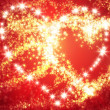 Abstract heart of sparks — Stock Photo