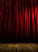 Red theater curtain — Foto de Stock