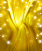 Stars on a background of gold — Stock Photo