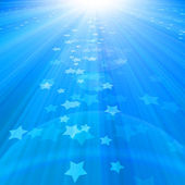 Blue sky with rays — Stock Photo