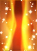 Estrellas sobre fondo de oro y borrosa de la onda — Foto de Stock