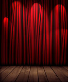 Red theater curtain — Stock Photo