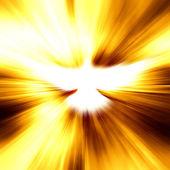 Shining dove with rays — Stock Photo
