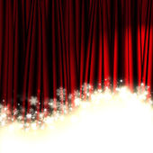 Christmas red theater curtain — Stock Photo