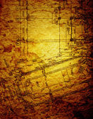 Vintage architectural drawing — Stock Photo