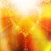 Heart of the bubbles in a glass of champagne — Stock Photo