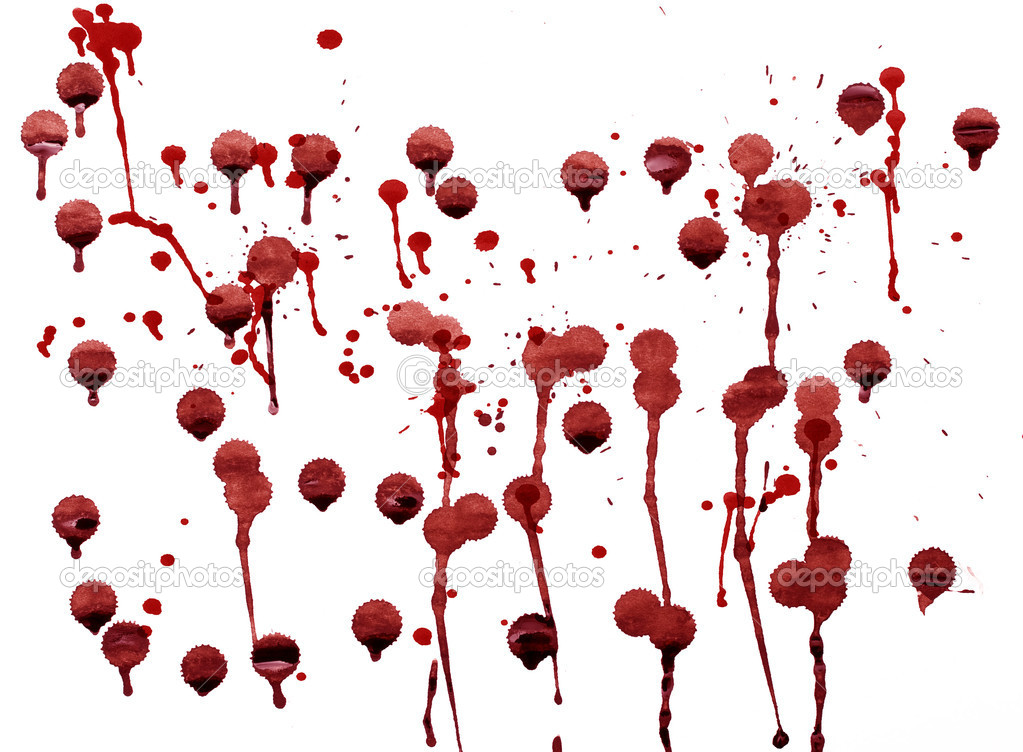 Splashes of blood red splattered watercolor — Stock Photo #8722303
