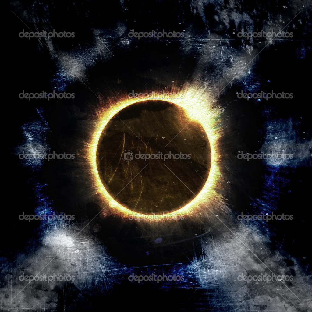 Eclipse of the sun on the black, used for the background  Stock Photo #8723659