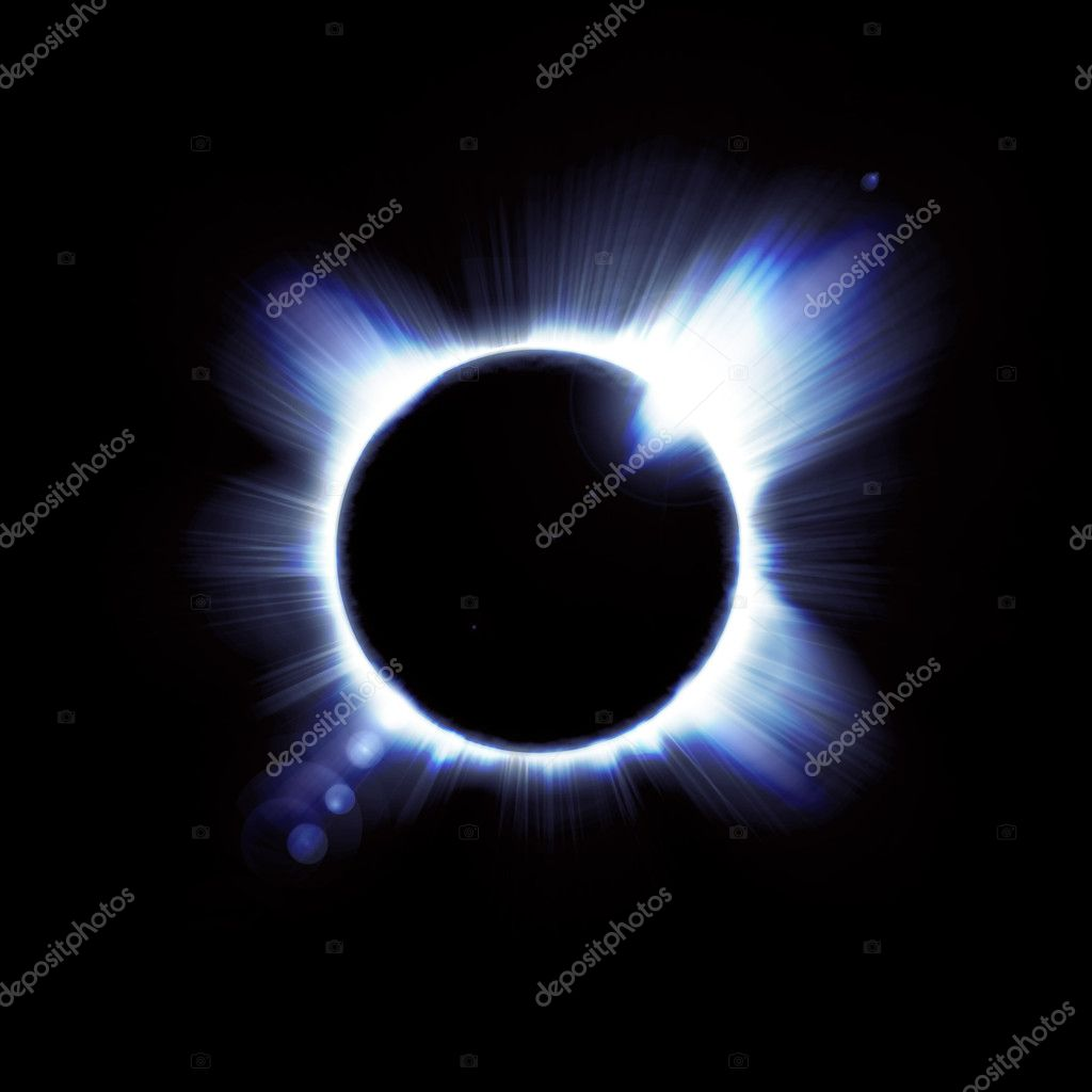 Eclipse of the sun on the black, used for the background — Stock Photo #8723913