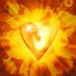 Stock Photo: Abstract amber heart
