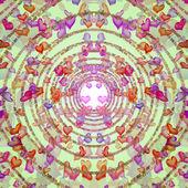 Romantyczny tło spiralnie ułożone serc — Zdjęcie stockowe