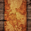 Ancient scroll map — Foto Stock