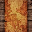 Ancient scroll map — Stock Photo